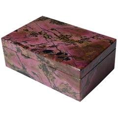Beautiful Russian Rodonite Box by Studio Superego, Unique Piece, Italy