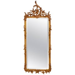 Chippendale Revival Giltowood Wall Mirror