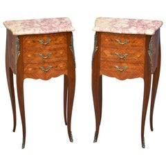 Pair of Bedside Cabinets in Tulipwood