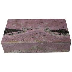 Beautiful Italian Rodonite Box by Studio Superego, Unique Piece, Italy