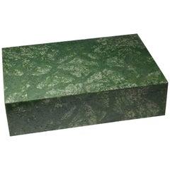 Beautiful Green Jade Box by Studio Superego, Unique Piece, Italy