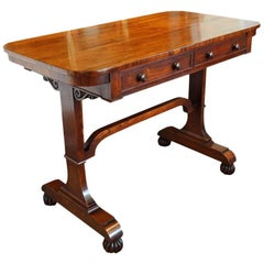 William IV Rosewood Small Library Table