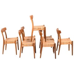Early Set of Seven CH23 Chairs by Hans Wegner for Carl Hansen & Son