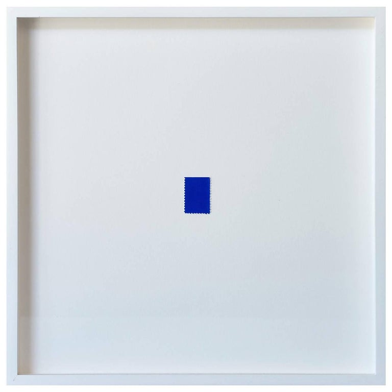 Blue Stamp by Yves Klein