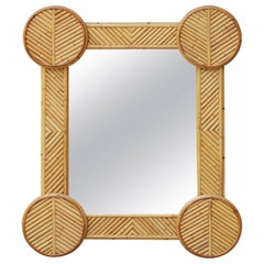 1970s Spanish Bamboo Mirror