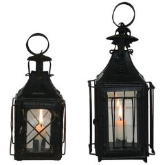 Pair of French, 19th Century Metal Lanterns