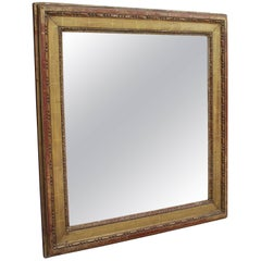 19th Century French Neoclassical Wooden Gilded Mirror