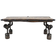 "Contemporary Handmade Coffee ""Cafe Racer"" Table by Baldos"