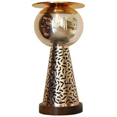 Etore Sottsass, 'German Silver', Large, Monumental 'Memphis Milano' Vase, 1988