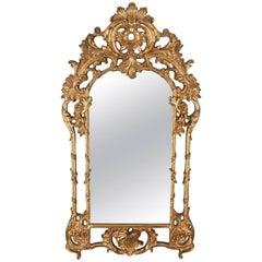 Large, Wall Mirror, Victorian Taste, Late 20th Century