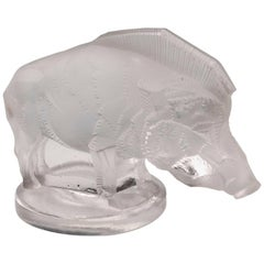 Rene Lalique Sanglier / Wild Boar Car Mascot, 20th Century
