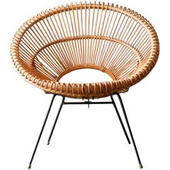 1960s Bamboo Armchair by Janine Abraham and Dirk Jan Rol Made in France