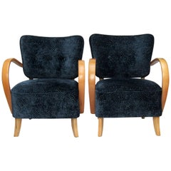 Pair of 1940s Bentwood Armchairs by Jindrich Halabala