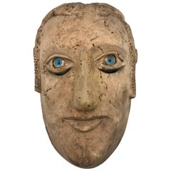 18th-19th Century Carved Slave's Mask Depicting of His/Her Master