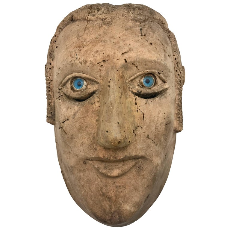 18th-19th Century Carved Slave's Mask Depicting of His/Her Master For Sale