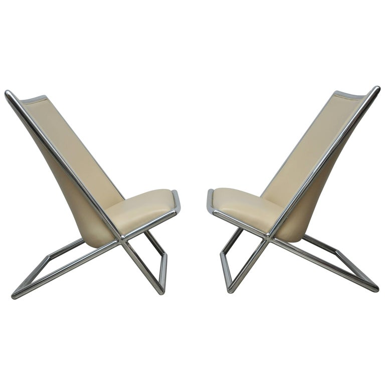 Ward Bennett Scissor Chairs