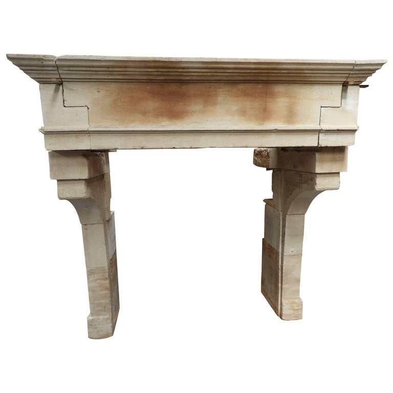 19th Century Lous XIII Fireplace in French Limestone