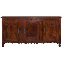 Antique French Louis XVI Cherrywood Buffet Credenza Enfilade, France, circa 1780