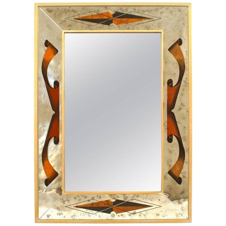 Italian Rectangular Wall Mirror