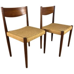 Poul Volther Paper Cord Dining Chairs for Frem Rojle