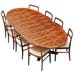 Danish Oval Rosewood Dining Table, Denmark, 1960