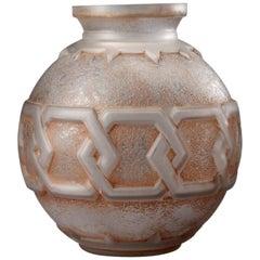 Spherical Vase by Daum, circa 1930