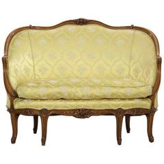 French Antique Canapé Sofa Settee in Louis XV Style, circa Late 19th Century