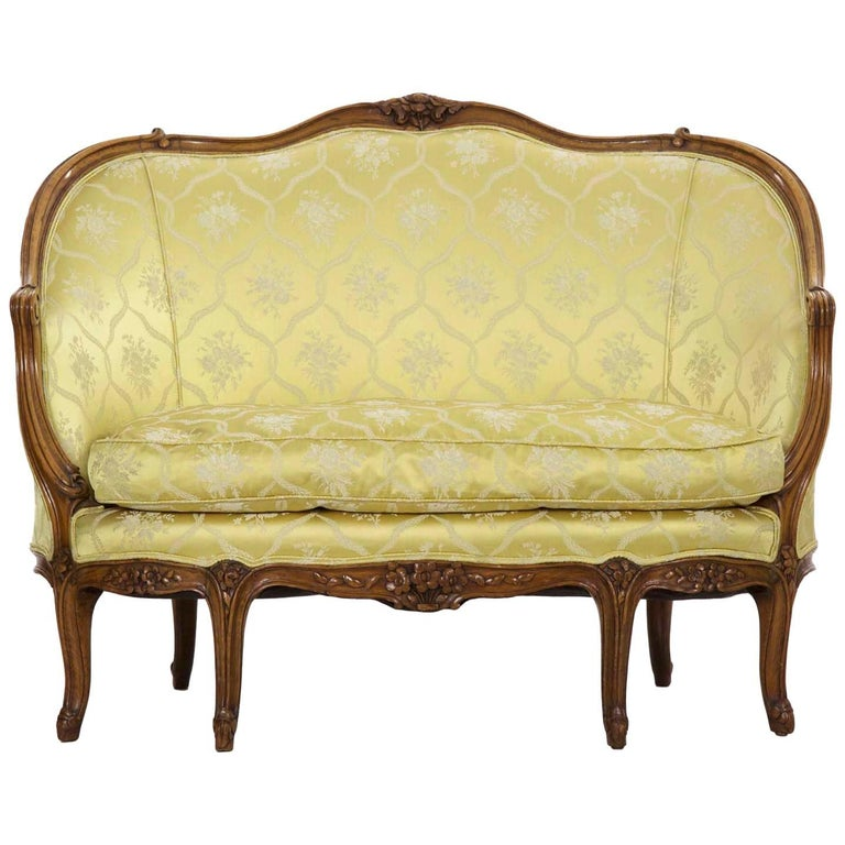 19th/20th Century French Louis XV Style Carved Walnut Canape or ...