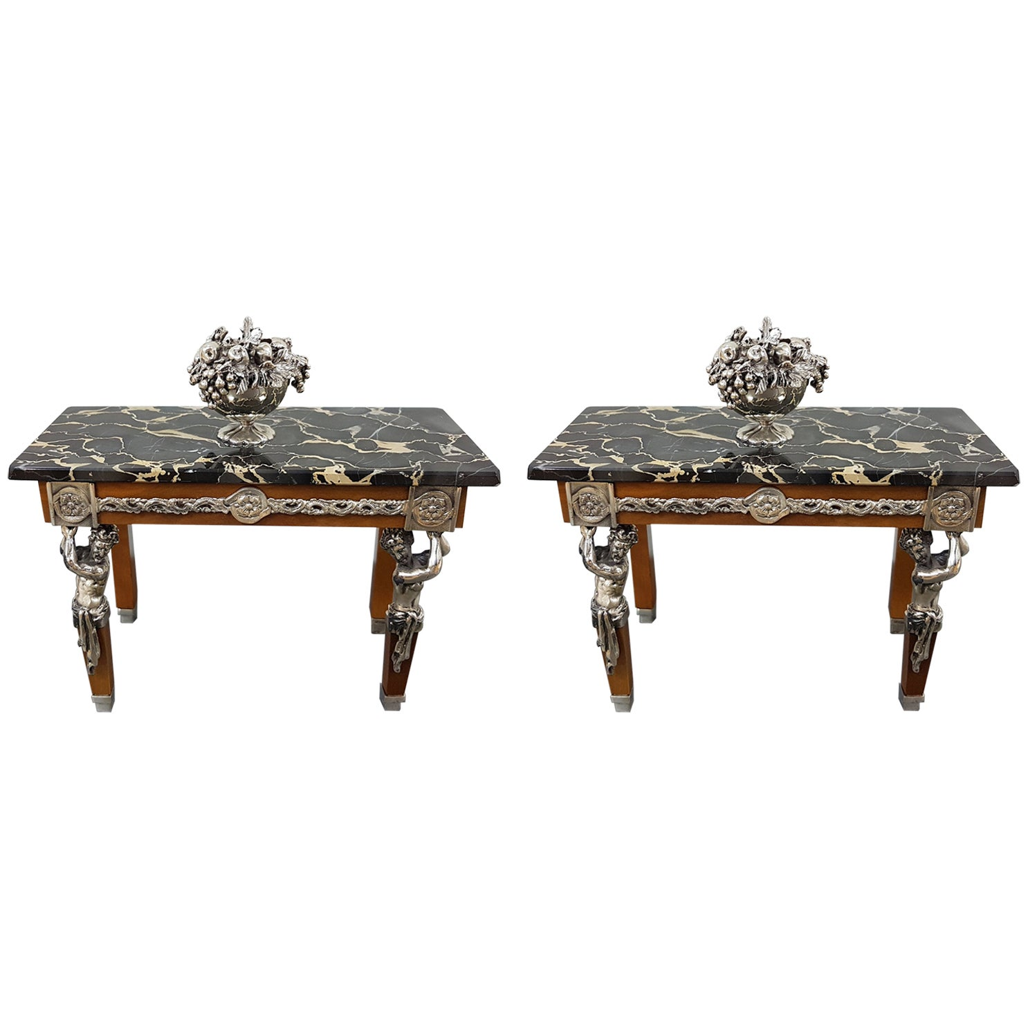 20th Century Italian Sterling Silver Miniature Tables