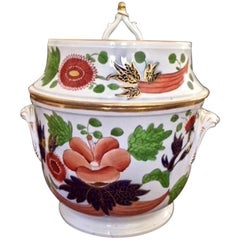 English Porcelain Fruit or Ice Cooler in the Chinese Imari Pattern