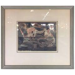 Linoleum Block Print by Charles Cecil Pollock