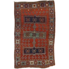 Antique Caucasian Kazak Rug with Modern Tribal Style