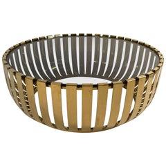1970s Circular Brass Plated Coffee Table