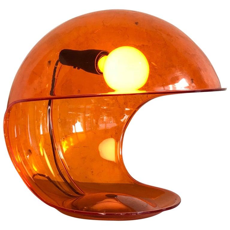 1960s Elio Martinelli 'Foglia' Table Lamp for Martinelli Luce, Italy