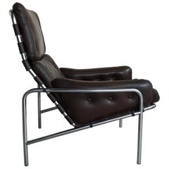 Midcentury Leather Lounge Chair SZ09 Nagoya by Martin Visser for Spectrum, 1969