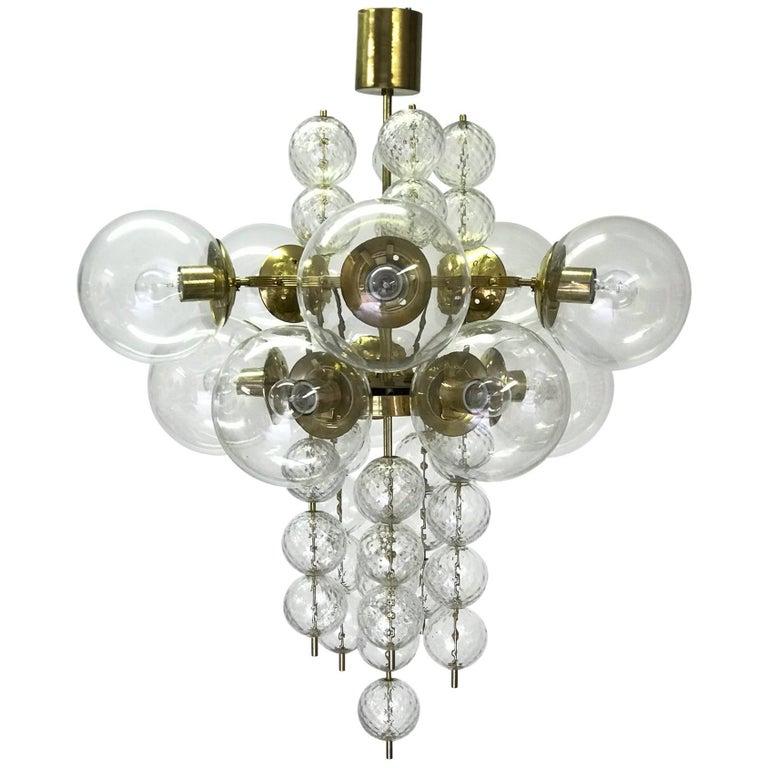 Kamenický Šenov Glass Chandelier
