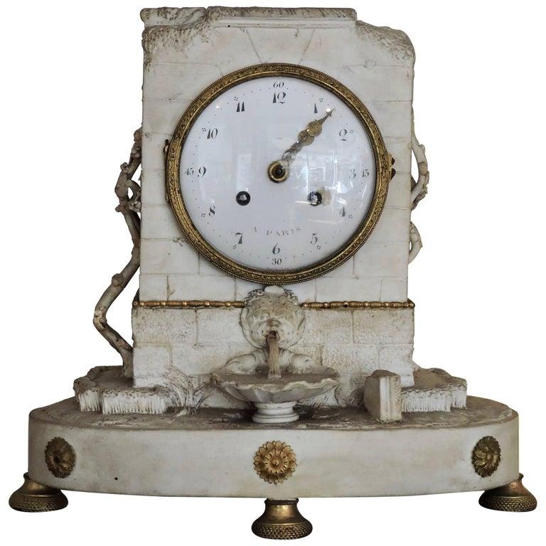 Romantic Period Biscuit and Ormolu Clock, circa 1830
