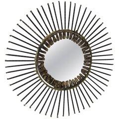 Smaller Curtis Jere Sun Wall Mirror
