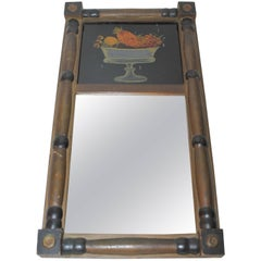 Early 19th Century Period Sheraton Original Reverse Painted Mirror