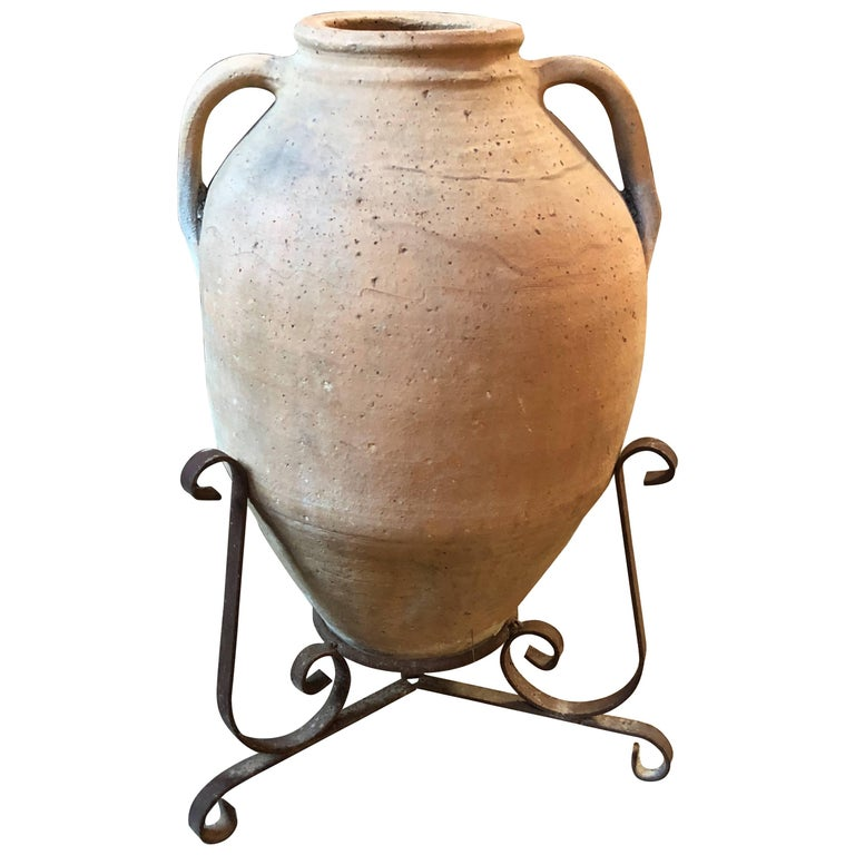 Italian Large 18th Century Terracotta Jar For Sale