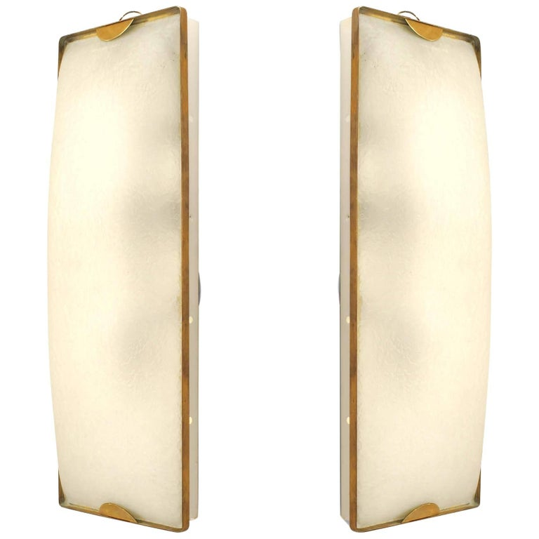 Pair of Italian 1950s Murano Wall Sconces