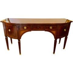 Baker Federal Style Fine Satinwood Fan Inlaid Sideboard