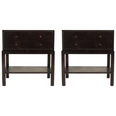 Pair of Midcentury Boxy End Tables