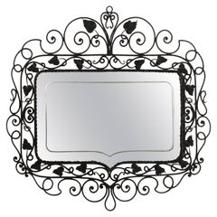 1940s Hand Wrought Etched Mirror