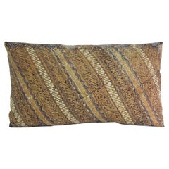 CLOSE OUT SALE: Vintage Hand-Blocked Batik Lumbar Decorative Pillow