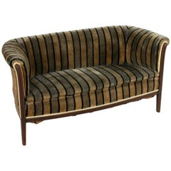 Early 20th Century Art Deco Period Mahogany, Lemon Wood, Sycamore Settee or Sofa