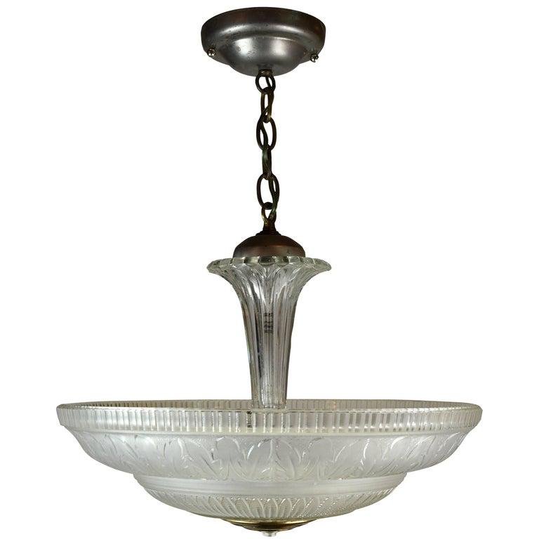 1940s Glass Bowl Pendant