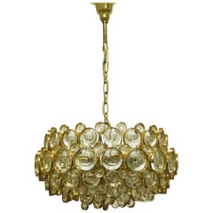 Large Gold-Plated Chandelier Designed by Sciolari for Palwa, circa 1960s
