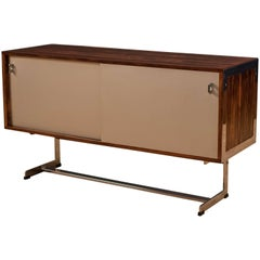 Vintage Rosewood and Chrome Credenza by Merrow Associates