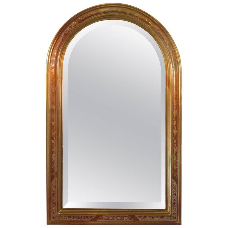 1980s Decorative Beveled Glass Mirror